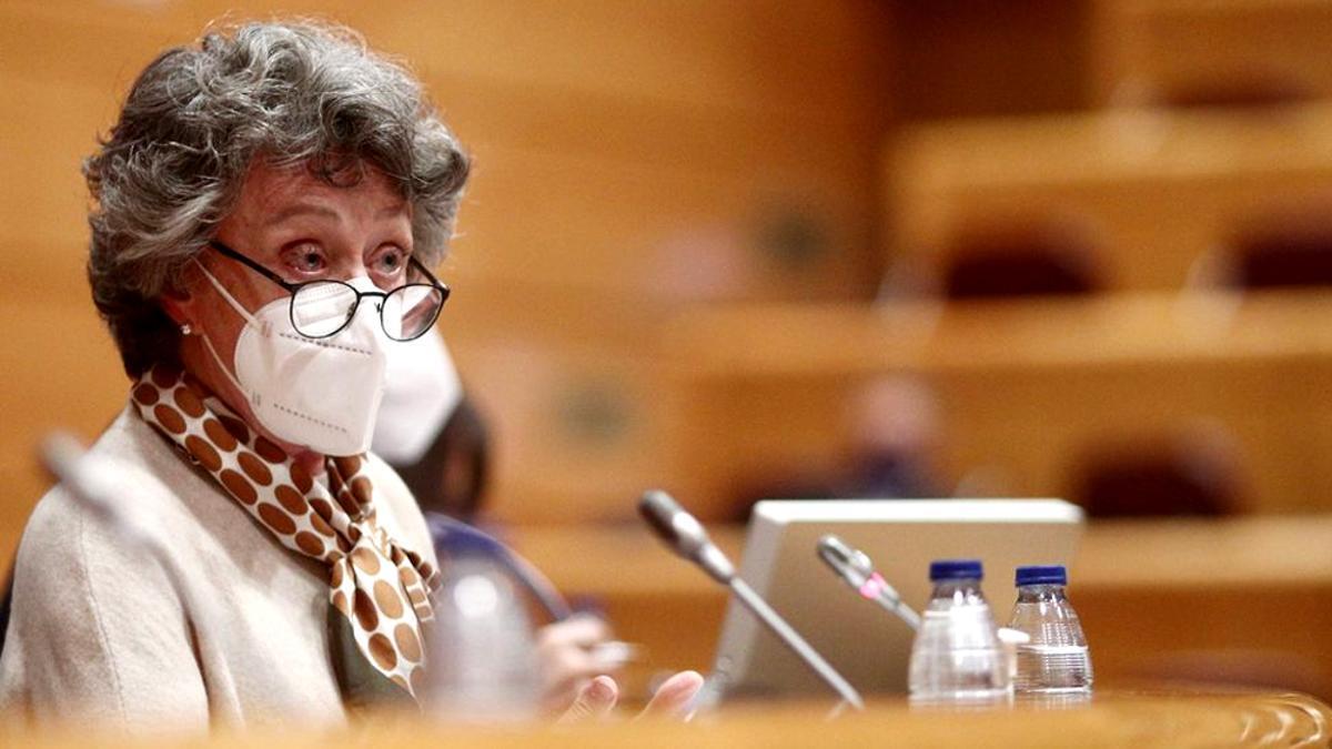 Rosa María Mateo, en su despedida en el Senado
