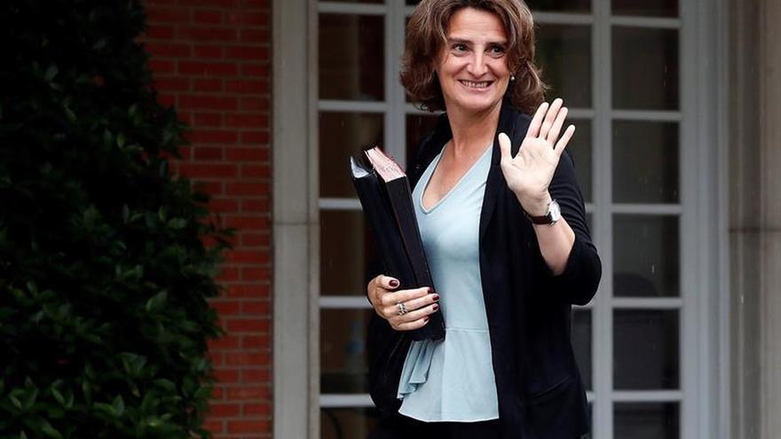 """Teresa Ribera: """"España deja de ser un lastre"""" en materia de cambio climático"""