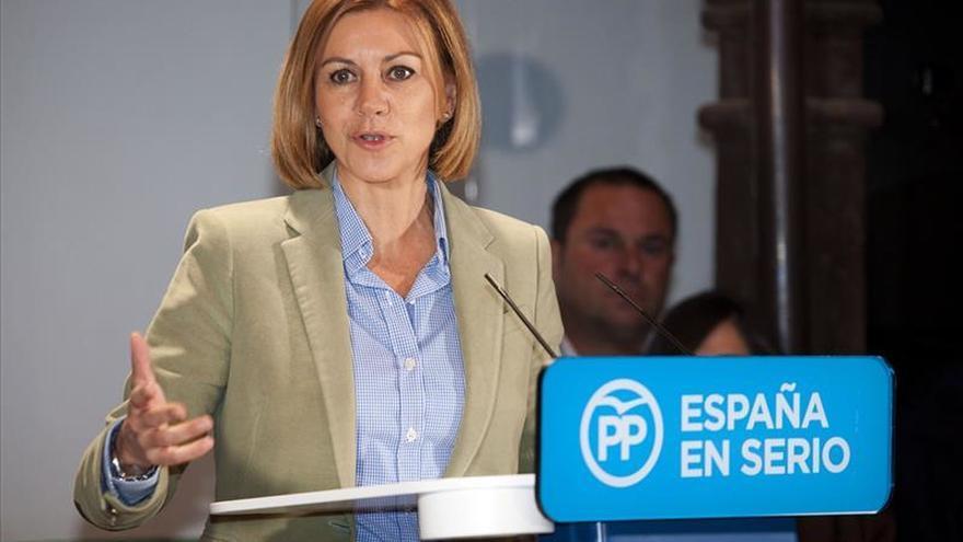 """Cospedal: """"El 20D tiene que formar gobierno el partido más votado"""""""