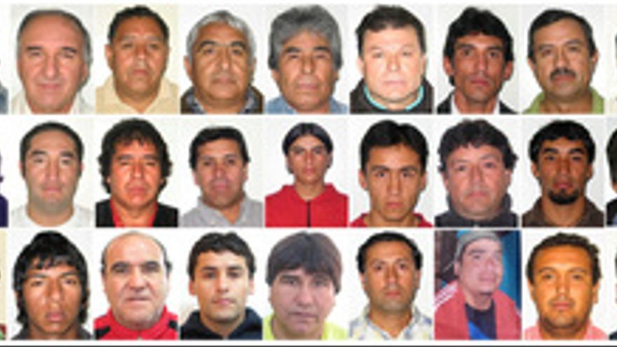 Mineros atrapados en una mina de Chile. (EUROPA PRESS)