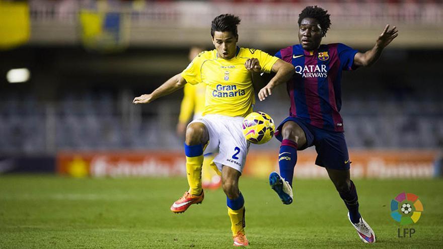 La Unión Deportiva Las Palmas refrendó su condición de líder en la Liga Adelante al superar al Barcelona B. (Foto: LFP/UD Las Palmas).