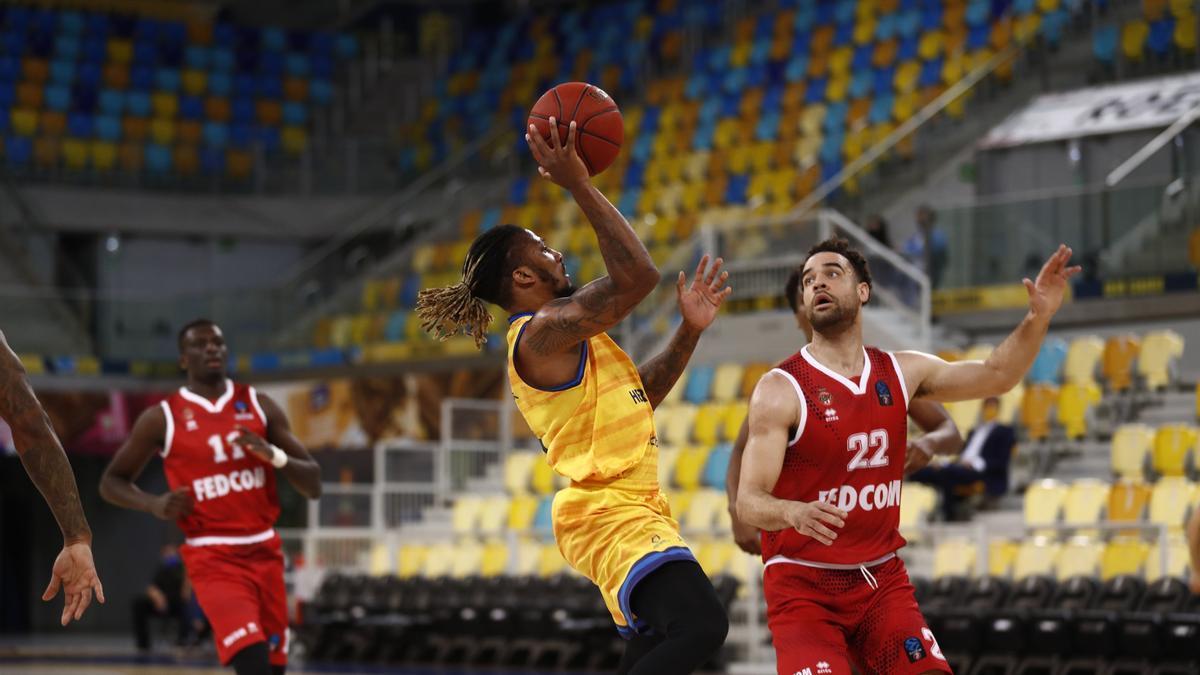 Visita del AS Mónaco al Gran Canaria Arena