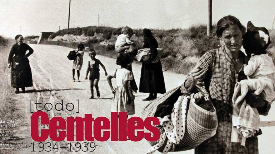 Cartel de la exposición sobre Centelles, que se inaugurará en Zaragoza.