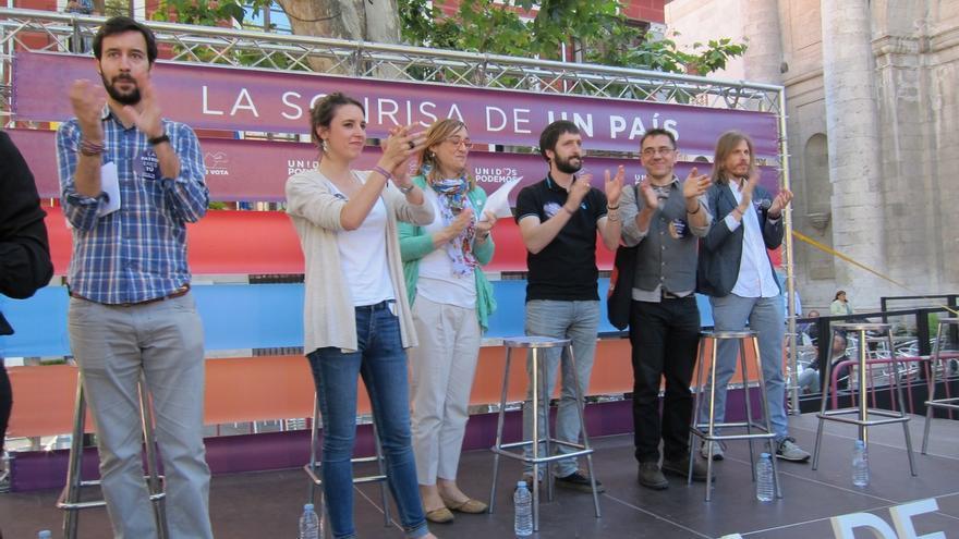 """Monedero llama a votar con """"memoria"""" ante un C's que """"da risa"""", un PP que da """"miedo"""" y un PSOE que da """"pena"""""""