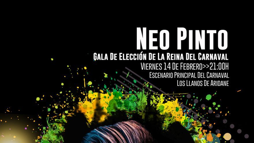 Cartel de la actuación de Neo Pinto en la 'Gala Elección de la Fantasía Adulta' de Los Llanos  de Aridane-