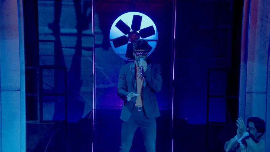Ricky Merino, enmascarado en '¡A cantar!' de Netflix