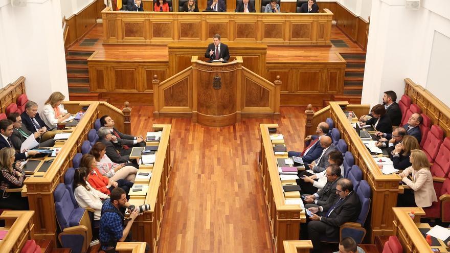 Un momento del Debate de la región, ayer, en las Cortes