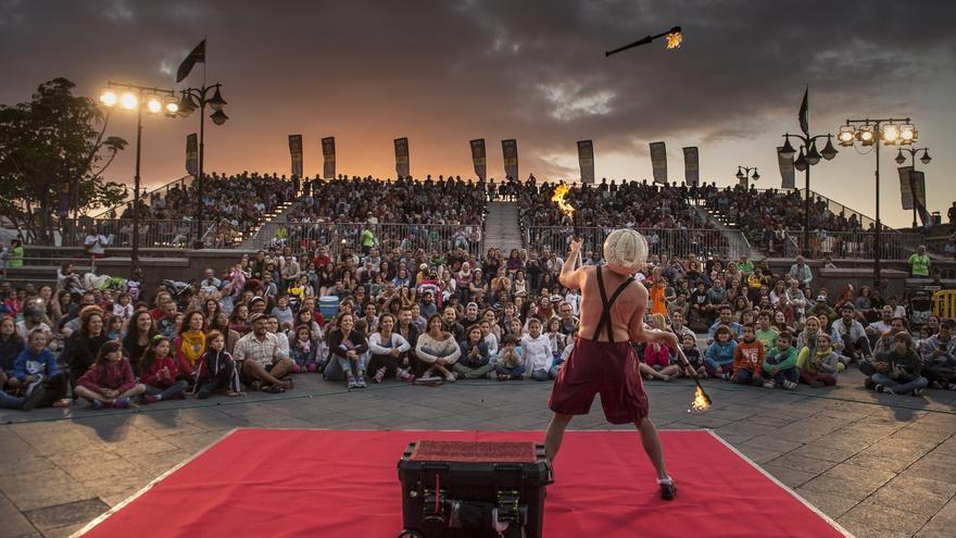 Una de las actuaciones del festival, en Puerto de la Cruz / Foto de la web de Mueca