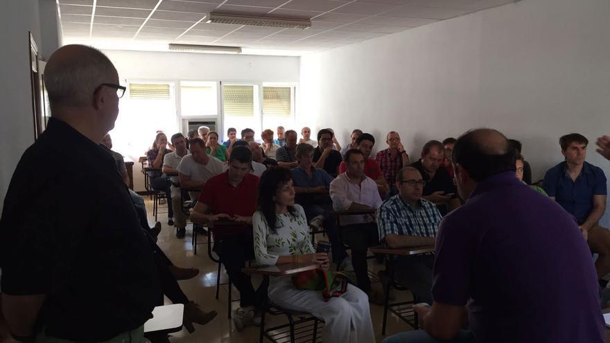 Asamblea de ex trabajadores de Elcogas en Puertollano
