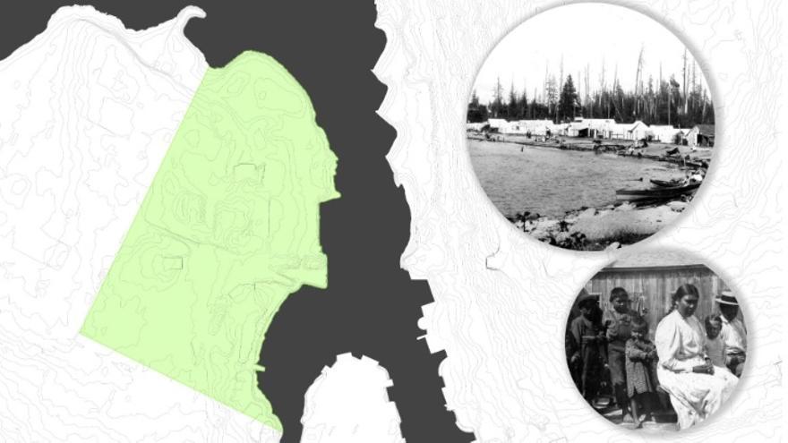 Imagen que muestra cómo era la presencia indígena en la Senakw a principios del siglo XX.