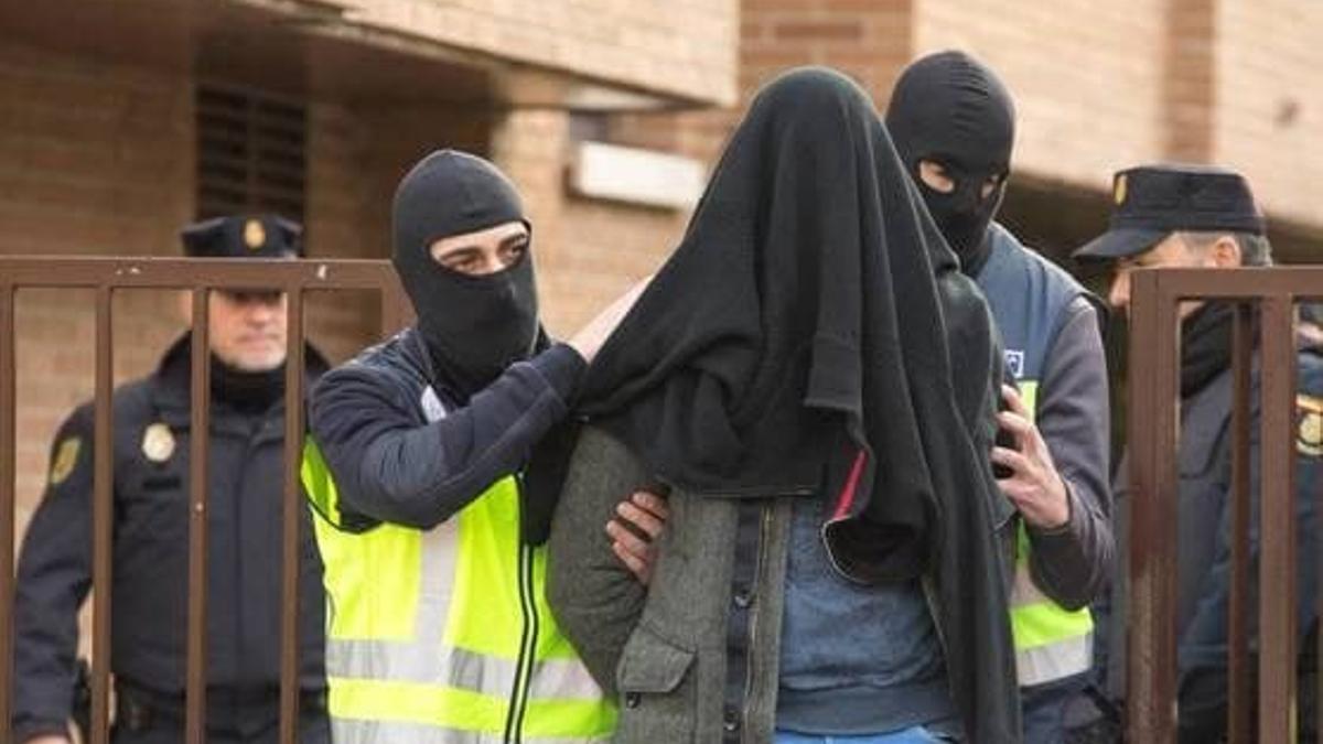 I.B., arrestado por la Policía Nacional, el 17 de diciembre de 2018 en Vitoria