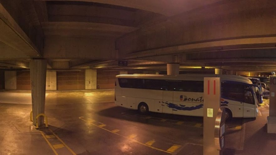 Interior de la Estación de Autobuses de Torrelavega.