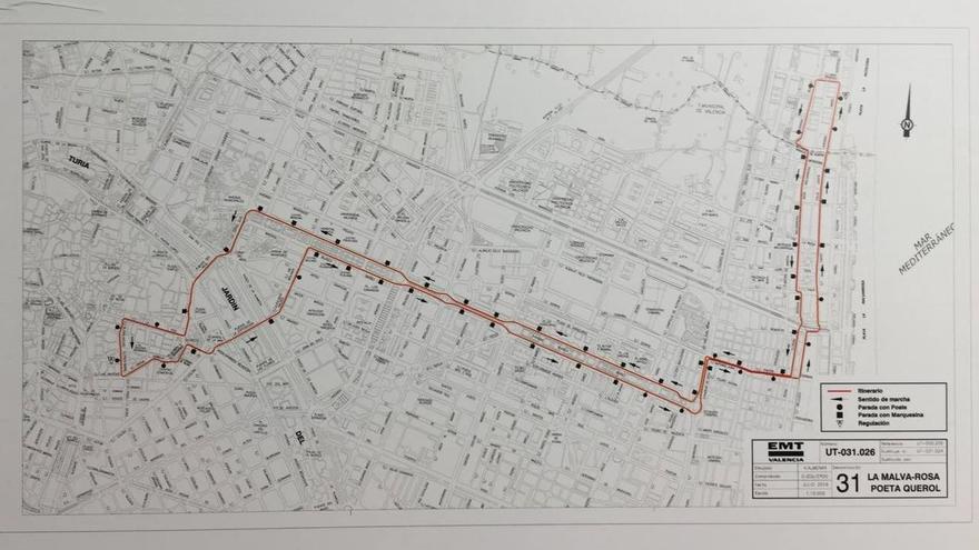 La línea 31 tras la remodelación