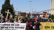 Manifestación por el cierre de la central térmica de Andorra