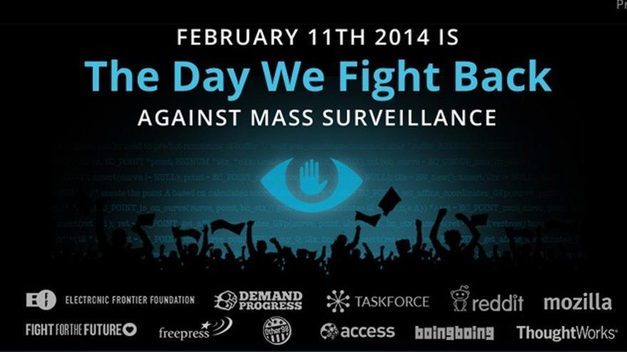'Banner' de la campaña The Day We Fight Back.