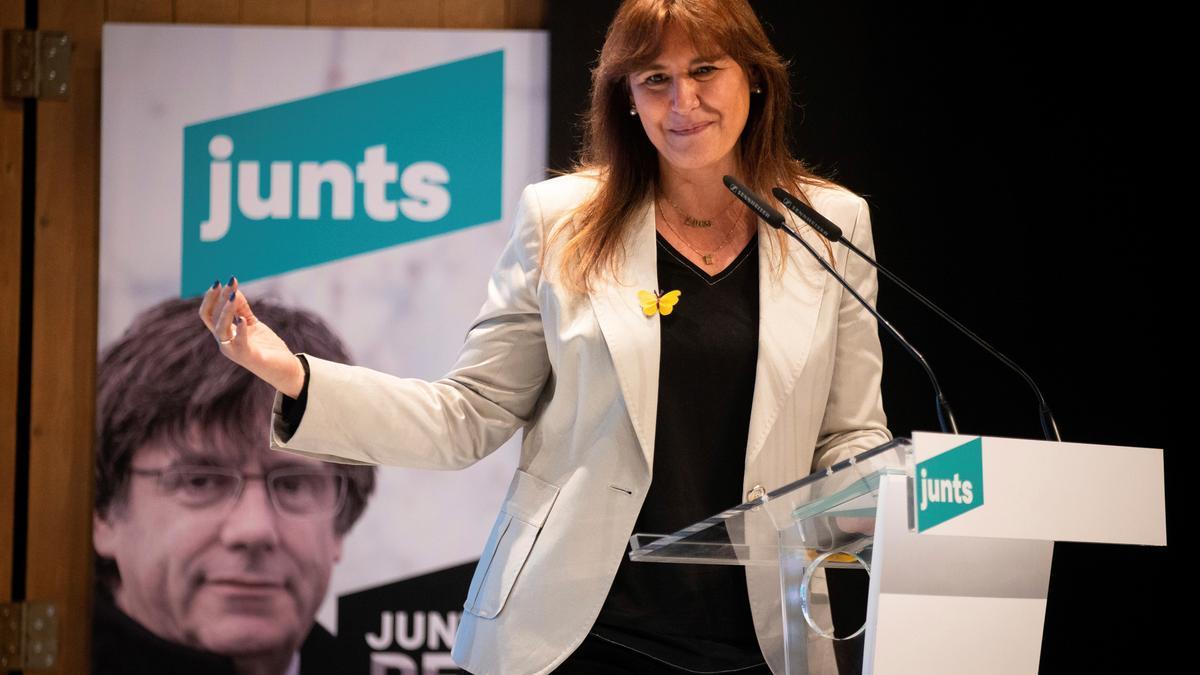 La candidata a la presidencia de la Generalitat JXCAT, Laura Borràs. EFE/Enric Fontcuberta/Archivo
