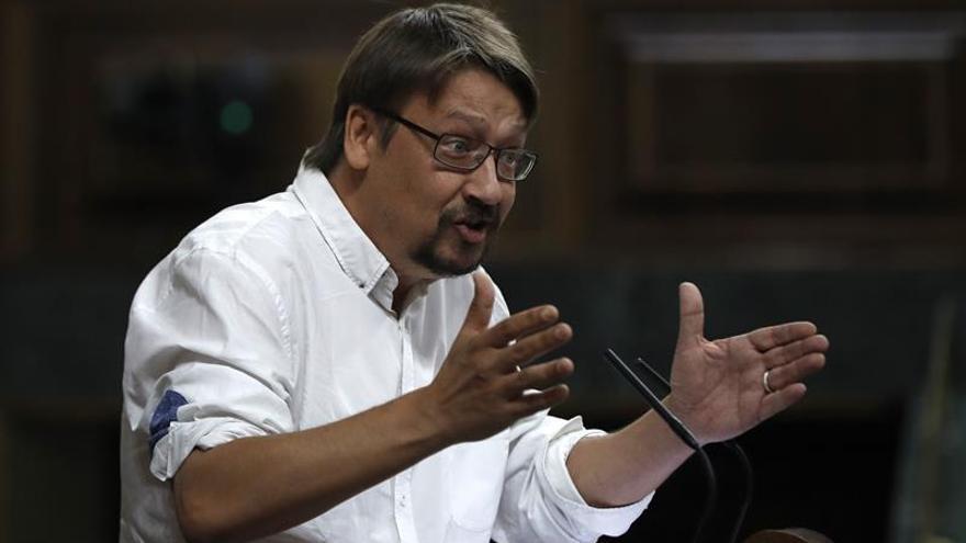 """Domènech cree que el Govern planea un """"9N con más intensidad"""", no un referéndum"""