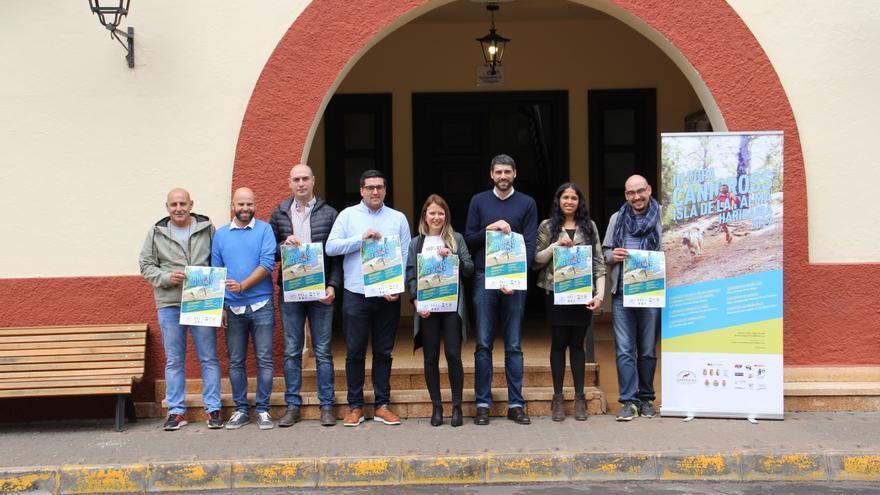 Presentación de la 'III Copa Canicross Isla de La Palma Haridaira'.