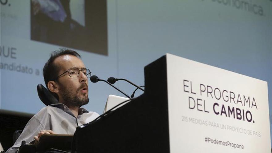 """Echenique dice que """"pactaría incluso con el PP si aceptara las medidas de Podemos"""""""