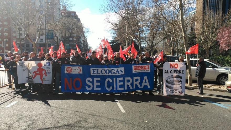Protestas de los trabajadores de Elcogas
