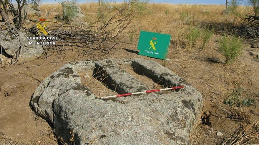 Yacimiento visigodo en Menasalbas encontrado por el Seprona