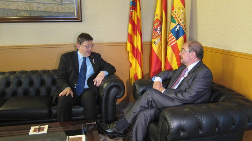 """Aragón y C.Valenciana abren """"una nueva etapa"""" de colaboración para potenciar las conexiones por carretera y ferrocarril"""