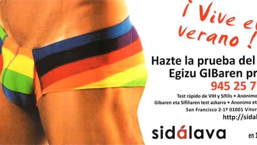 Un cartel que invita a realizarse la prueba del SIDA. /EDN.