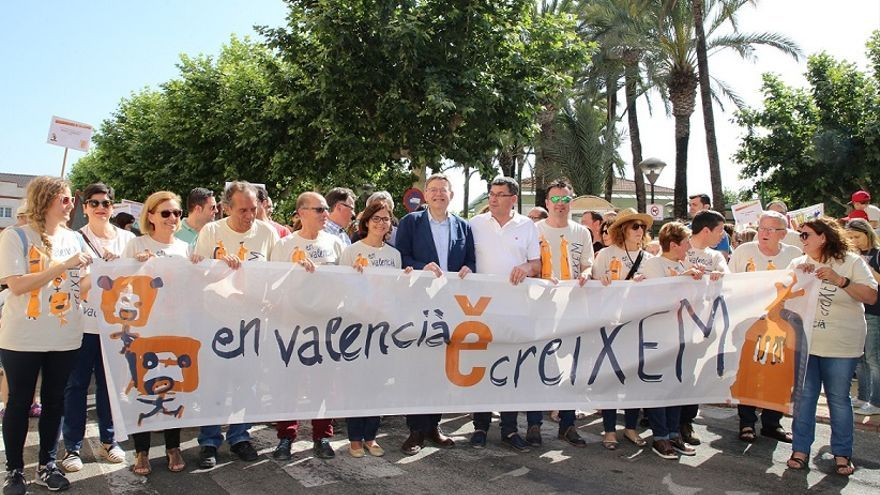 Ximo Puig va participar en la  29 Trobada d'Escoles en Valencià de la Safor-la Valldigna