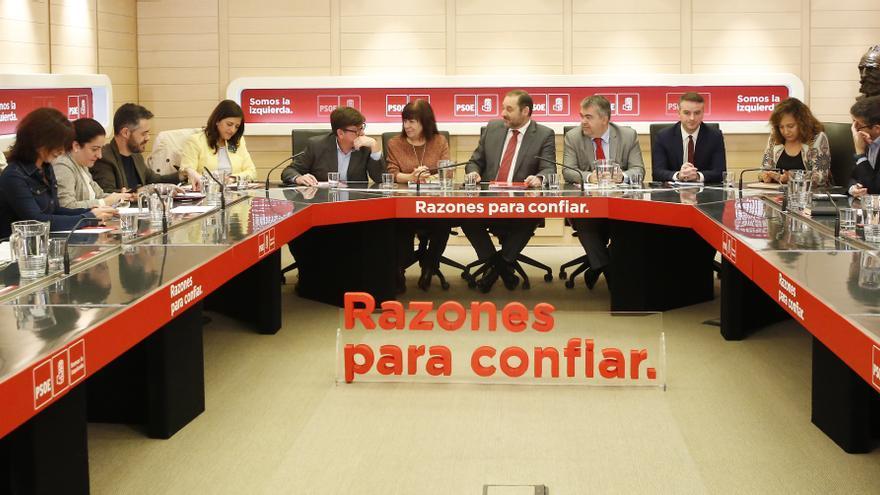Reunión del Comité Electoral del PSOE.