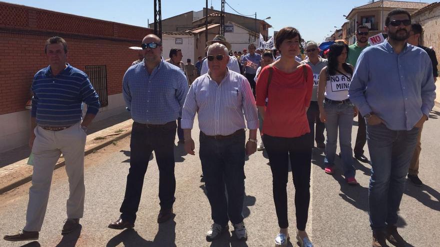 Representantes del PSOE en la manifestación