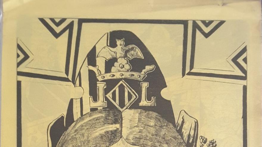 Cráneo de fallera radioactiva. Contraportada del fanzine El Gat Pelat.
