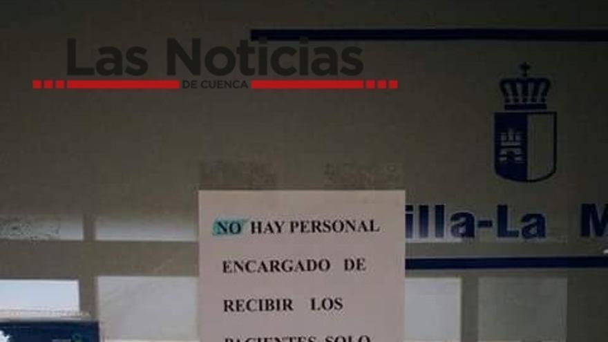Cartel en las urgencias de Tarancón (Cuenca) / Foto: Las Noticias de Cuenca