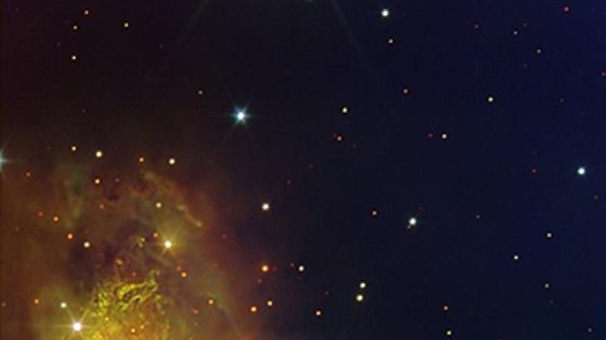 Imagen del nacimiento de una estrella en la nebulosa Sharpless 2-106.