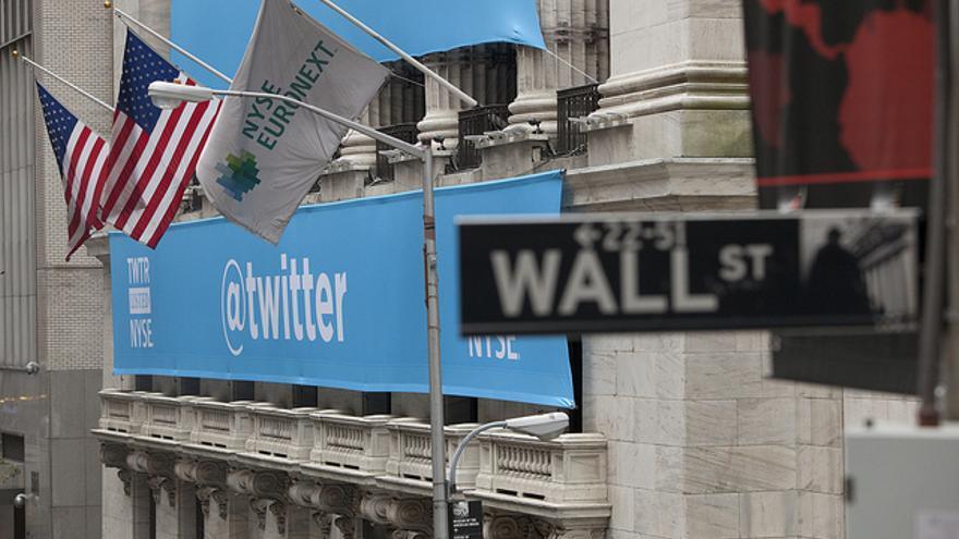 La salida de Twitter a bolsa. Foto: Anthony Quintano / Flickr