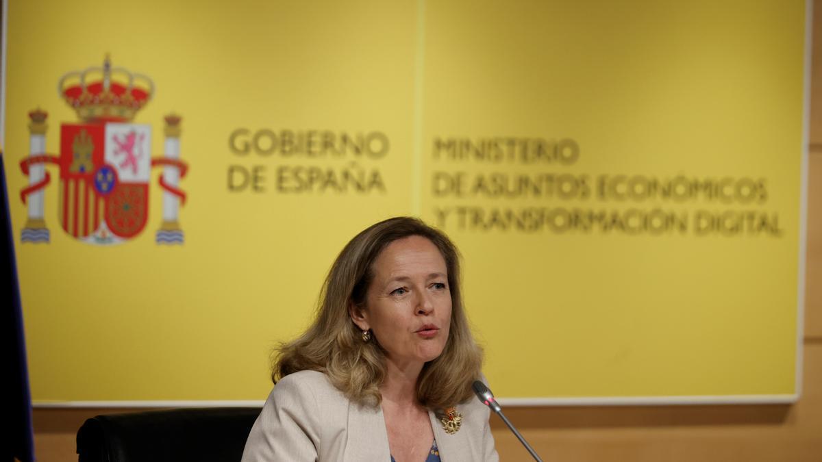 La vicepresidenta de Asuntos Económicos, Nadia Calviño, en una fotografía de archivo. EFE/Emilio Naranjo