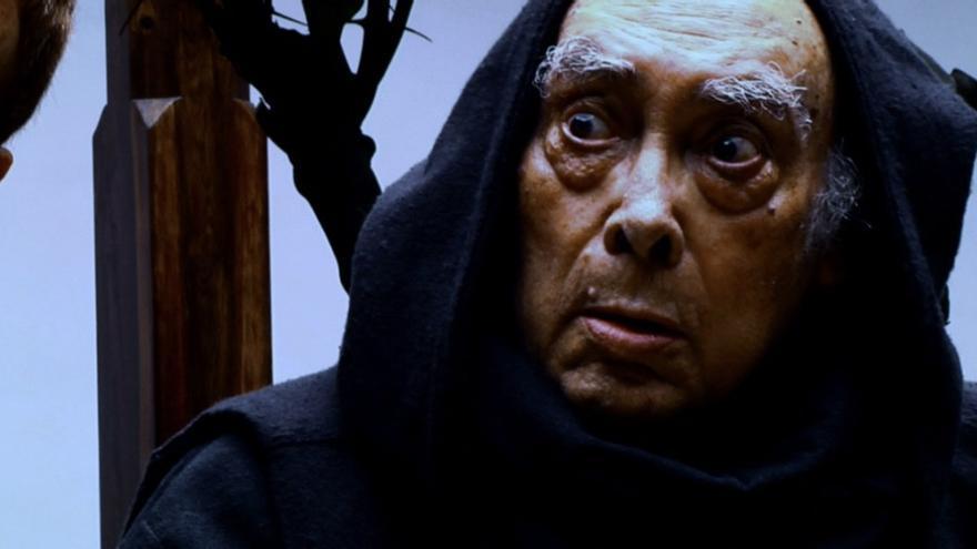 Luis Cobiella caracterizado para la película 'Antilia' del realizador palmero Jorge Lozano Vandewalle.