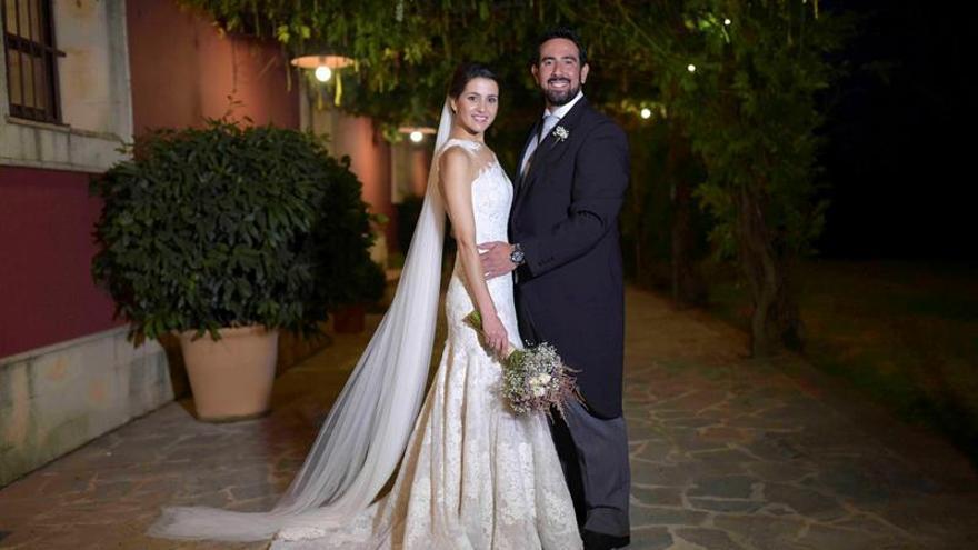 Inés Arrimadas difunde una foto de su boda con Xavier Cima en Jerez