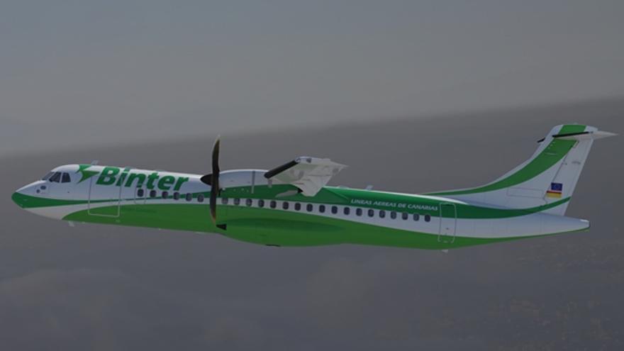 Modelo ATR 72-600, un avión de turbopropulsión