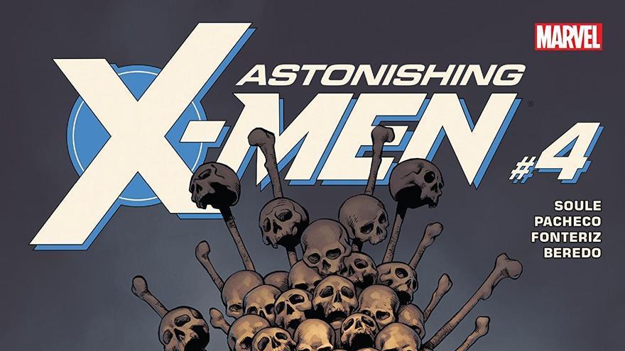 'Astonishing X-Men Vol 4'. Artistas de portada: Carlos Pacheco, Rafael Fonteriz y Nolan Woodard