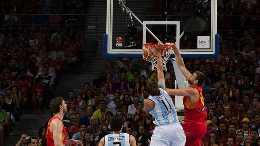España gana a Argentina en el último partido de preparación para el Mundobasket,