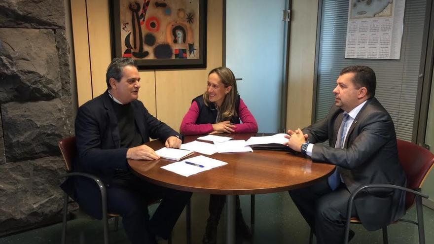 Jorge Rodríguez, Mayte Pulido y Juan José Cabrera.