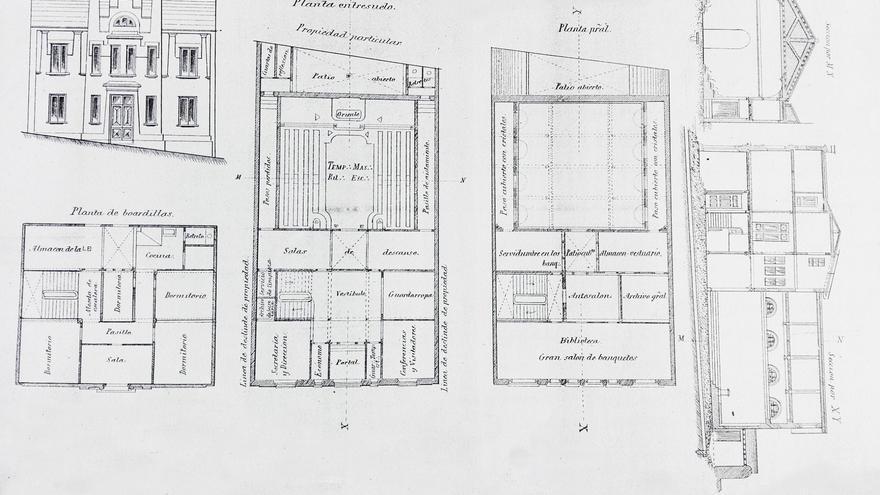 Planos de la Casa de la Cuesta de las Ánimas.
