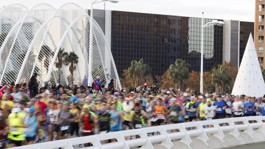 Una imatge de la Marató de València.