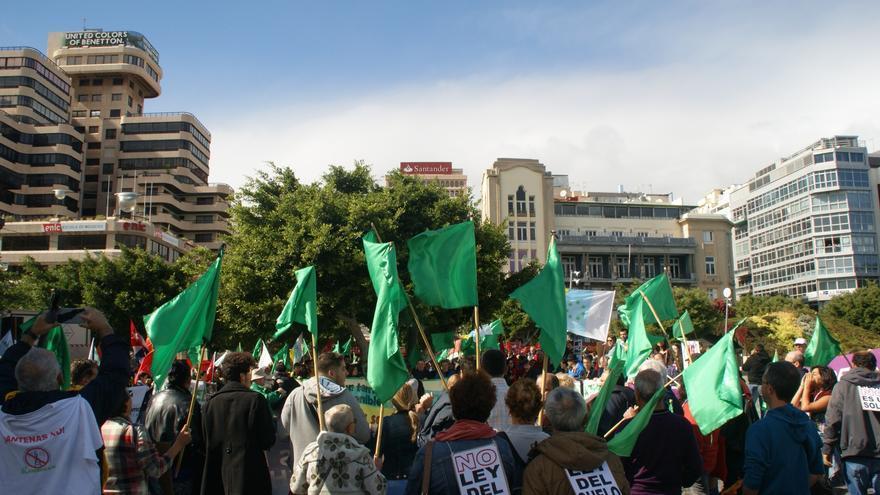 Final de la marcha, ya en la plaza de España