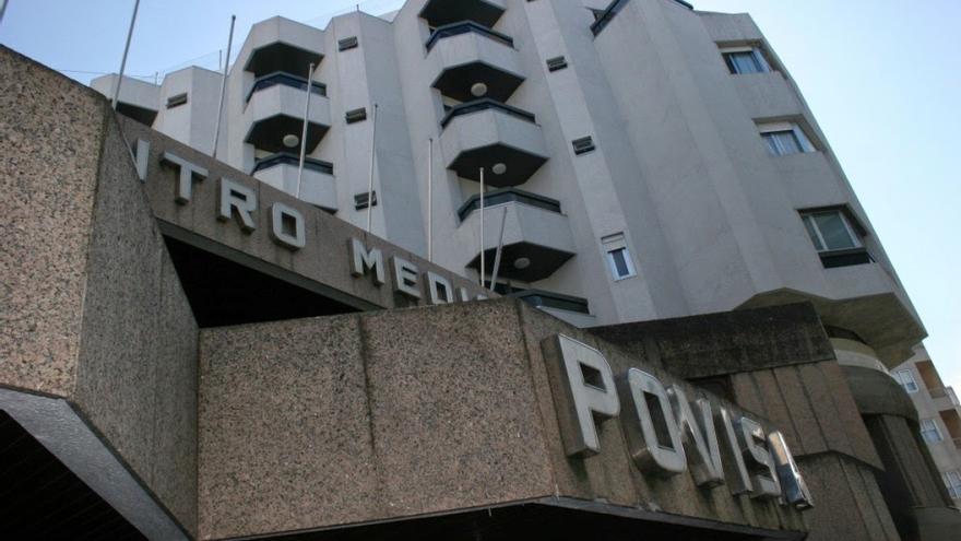 Instalaciones del hospital privado concertado Povisa, en Vigo