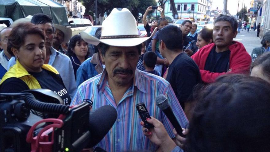 El defensor ambientalista a su salida de prisión, el pasado 12 de agosto, tras nueve meses encarcelado injustamente / Imagen: Centro Prodh