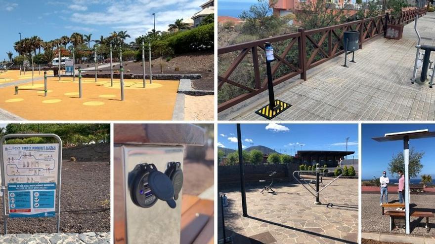 Parques para la práctica de calistenia en el municipio sureño de Guía de Isora