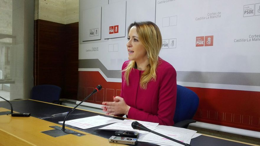 Cristina Maestre, hoy, en rueda de prensa