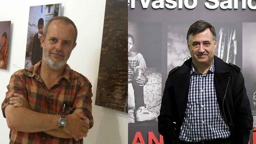 Los fotoperiodistas José Manuel Navia y Gervasio Sánchez / EFE