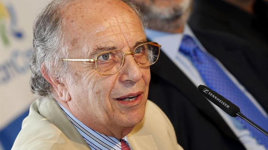 El barítono italiano Leo Nucci durante la rueda de prensa sobre 'Rigoletto'